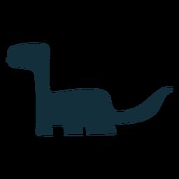 Silueta de dino brachisaurus