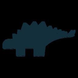 Silueta de dinosaurio estegosaurio