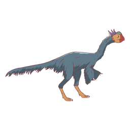Ilustración de pájaro mirando dinosaurio