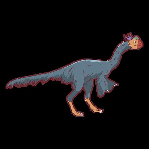 Ilustração de pássaro olhando dinossauro