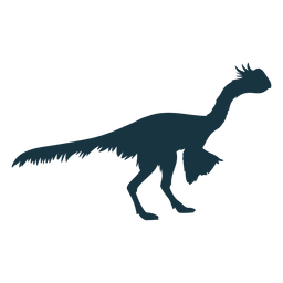 Dinosaurio buscando silueta de pollo