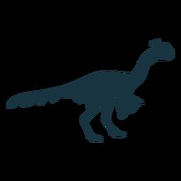 Dinosaurio mirando silueta de pollo