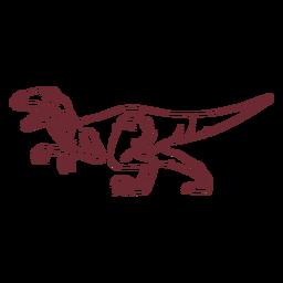 Dinosaurio tiranosaurio rex dibujado