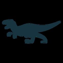 Dinosaurio Tyrannosaurus rex silueta
