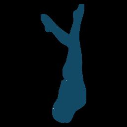 Mergulhe silhueta de menina subaquática