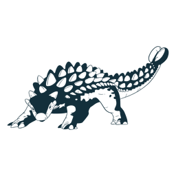 Dibujado dinosaurio ankylosaurus