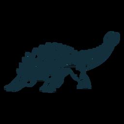 Gezeichneter Ankylosaurus-Dinosaurier