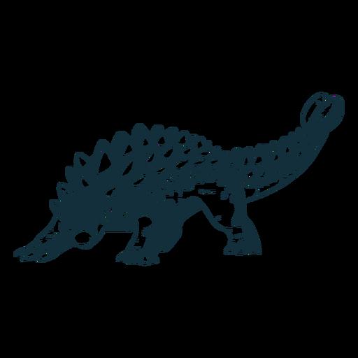 Drawn ankylosaurus dinosaur