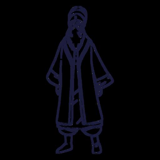 Drawn circus character