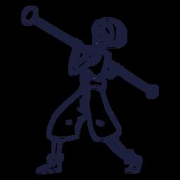 Drawn circus performer character