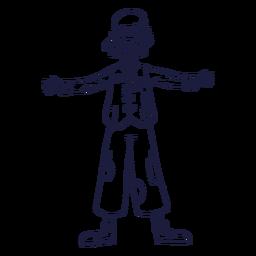 Dibujado personaje de circo payaso