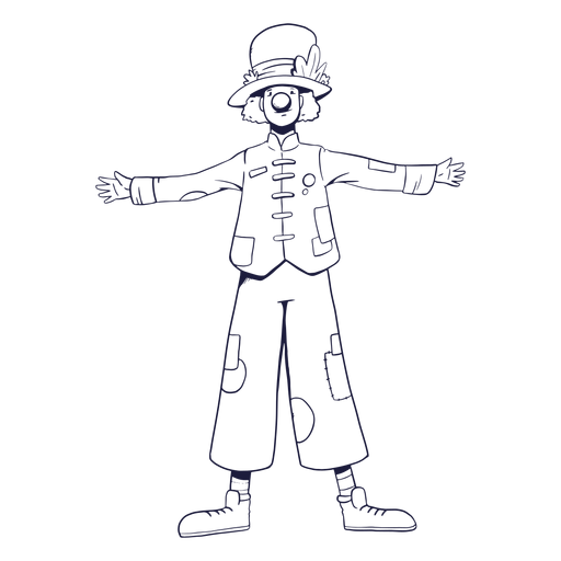 Personaje de circo payaso dibujado