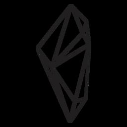 Dibujado cristal de forma compleja
