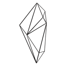 Drawn complex shape crystal