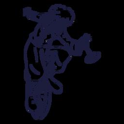 Payaso de ciclismo dibujado