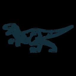 Dibujado dinosaurio tyrannosaurus rex