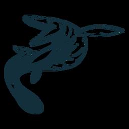 Dibujado lagarto mosasaurio