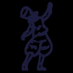 Circo de espalda de mago dibujado