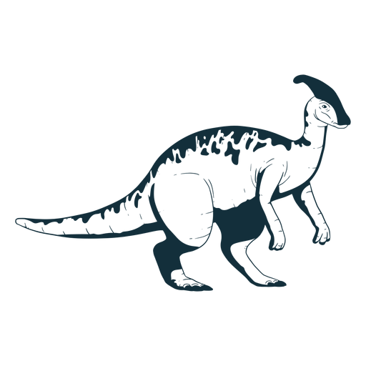Drawn parasaurolophus dinosaur Transparent PNG