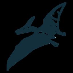 Dibujado dinosaurio pterodáctilo