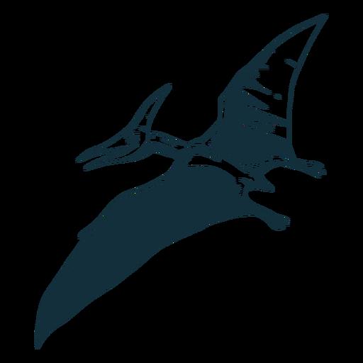 Dinosaurio pterodáctilo dibujado