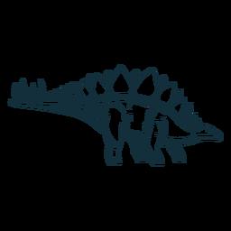 Dibujado dinosaurio estegosaurio