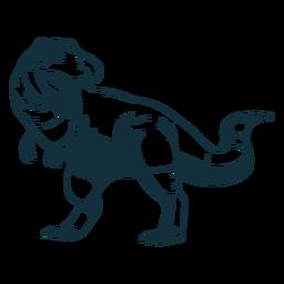 Dibujado trex dinosaurio