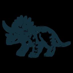 Dibujado dinosaurio triceratops