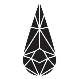 Forma de gota de cristal