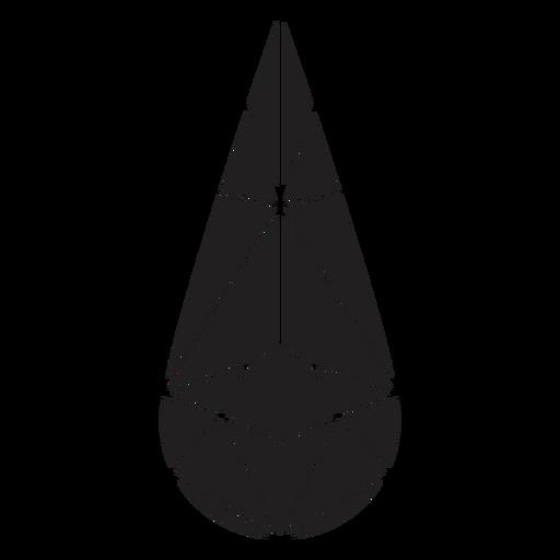 Droplet crystal shape