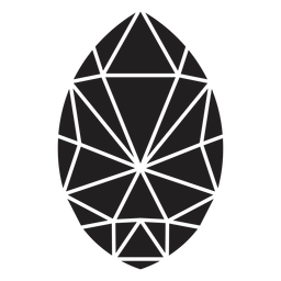 Cristal simple en forma de huevo