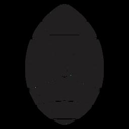 Forma simples de ovo de cristal