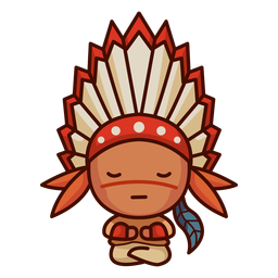 First nations cute character