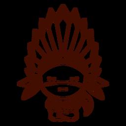 Golpe de personaje lindo de las primeras naciones