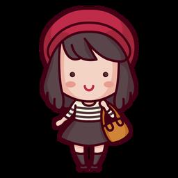 Mujer de estilo lindo personaje francés