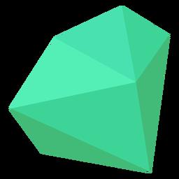 Grüner klobiger Kristall