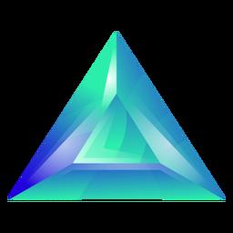 Cristal triangular verde
