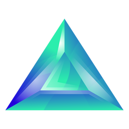 Triángulo verde cristal