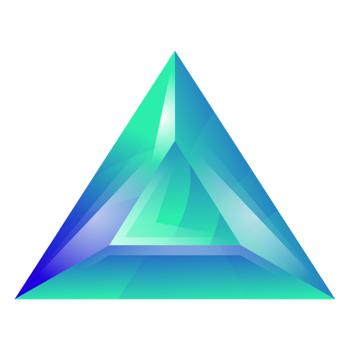 Green triangle crystal Transparent PNG