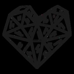Cristal en forma de corazón impresionante
