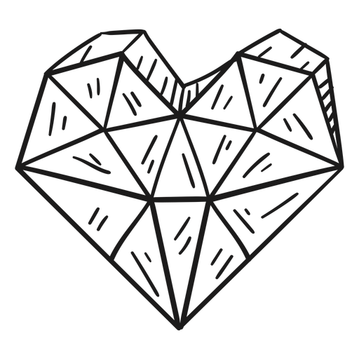 Heart shaped crystal awesome Transparent PNG