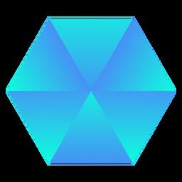 Sechseckiger blauer Kristall