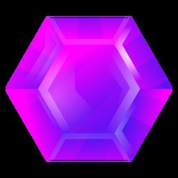 Cristal violeta hexagonal