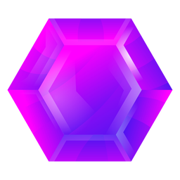 Hexagon purple crystal