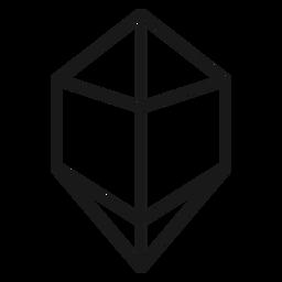 Icon crystal stroke shape