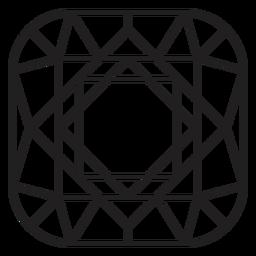 Icono de esquinas curvas de cristal
