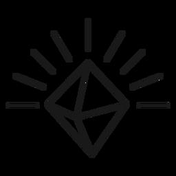 Icon shiny stroke diamond