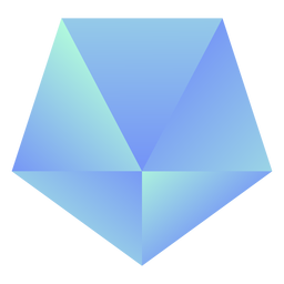 Cristal pentágono invertido