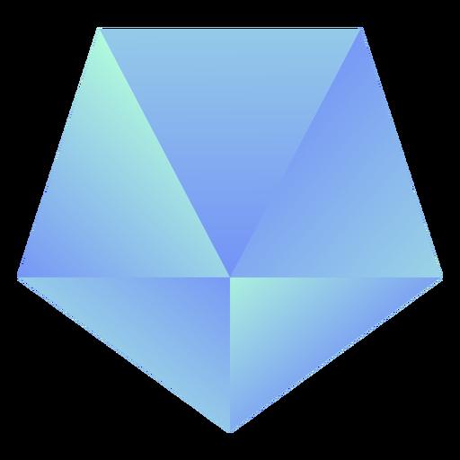 Inverted pentagon crystal