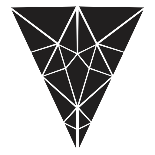 Inverted triangle crystal